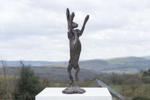 SPRING HARE SCULPTURE