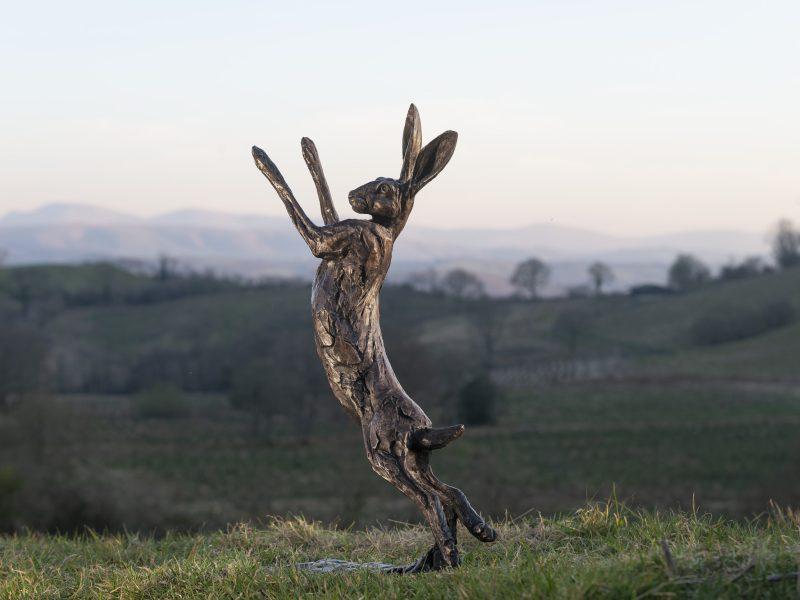 bronze hare statue