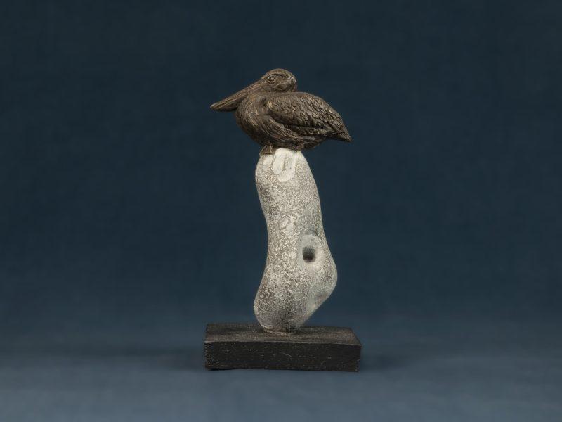 pelican on rock ornament