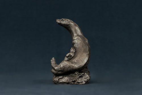 OTTER AND CUB SCULPTURE
