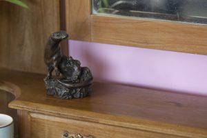 bronze otter ornament