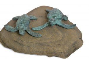 pair of turtles statue