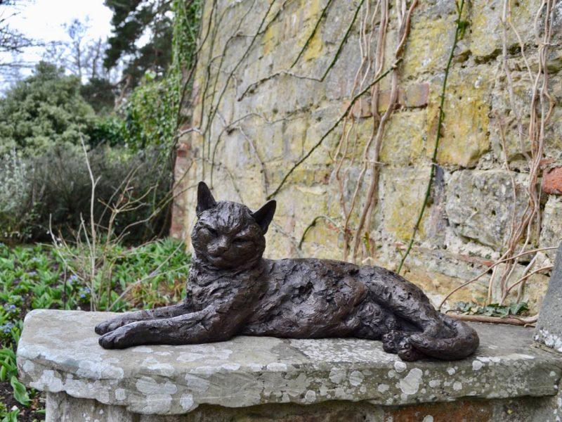 Lying Cat Statue