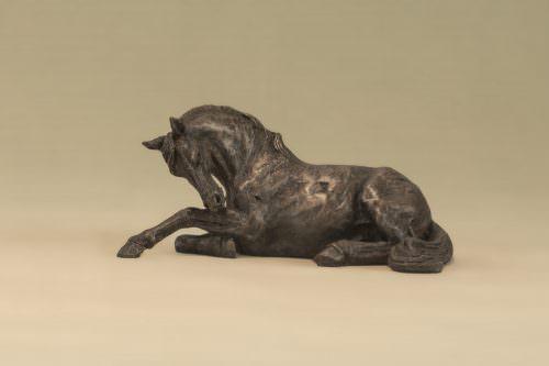 RESTING HORSE SCULPTURE