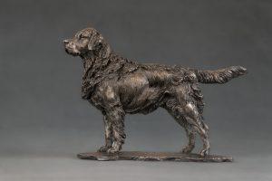 bronze retriever mantelpiece ornament