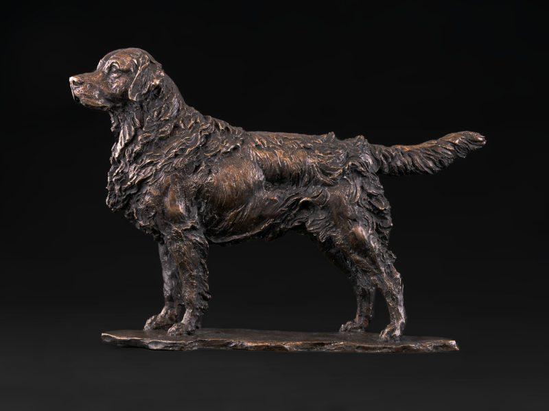 foundry bronze retriever statue