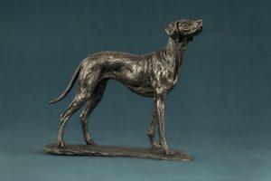 bronze vizsla dog statue