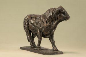 Bronze Bull Sculpture