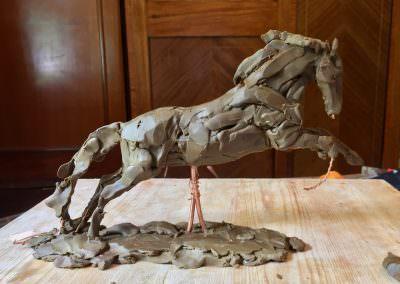 Cob horse sculpture modelling