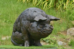 Large Pig Statue
