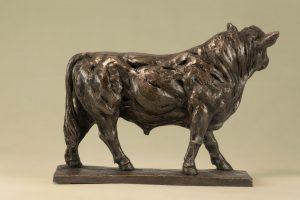 Bronze resin Bull Sculpture