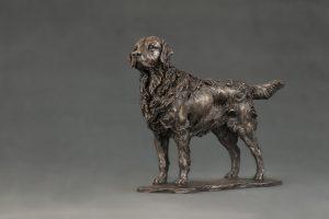 bronze retriever ornament