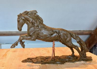 Cob horse sculpture modelling detailing