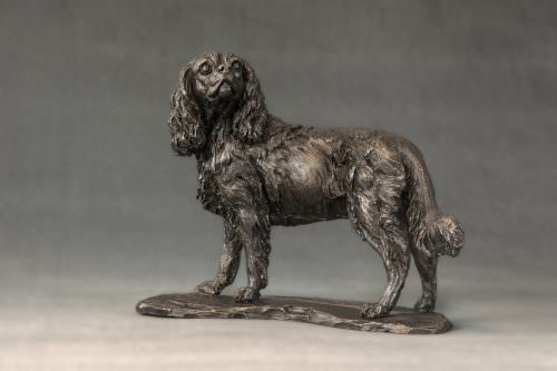 SMALL STANDING CAVALIER KING CHARLES SPANIEL SCULPTURE