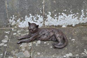 Lying Cat Outdoor Statue