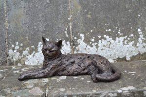 Lying Cat Sculpture