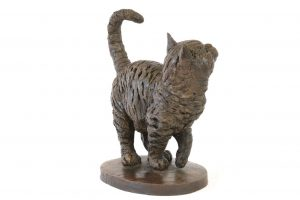 Back of Standing Cat Statue