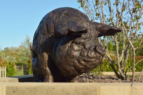 SITTING PIG SCULPTURE