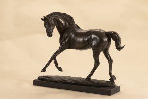 Playful bronze Horse