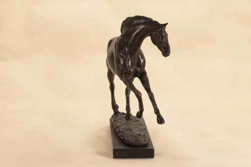 PLAYING HORSE SCULPTURE