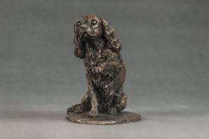 King Charles Waving Paw Bronze Ornament
