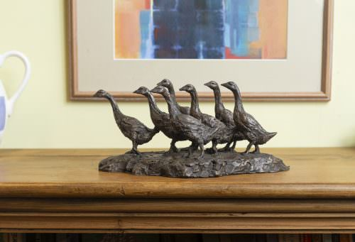 GAGGLE OF GEESE SCULPTURE