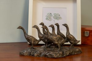 Bronze Geese Ornament