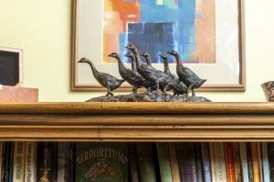 Bronze Gaggle of Geese Sculpture