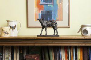Calf Mantlepiece Sculpture