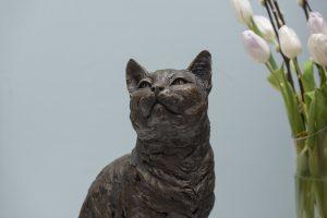 Close Up Cat Sculpture