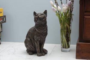 Sitting Life Size Cat Statue