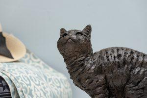 outdoor cat statue