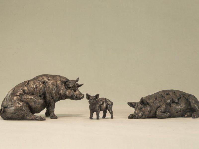 bronze pig ornaments