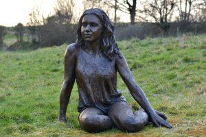Sitting Girl Sculpture
