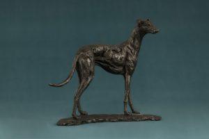 Bronze Small Greyhound Art