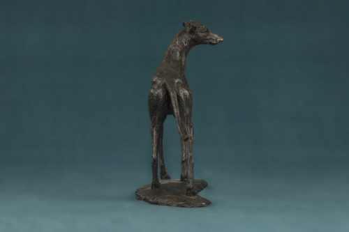 STANDING GREYHOUND SCULPTURE