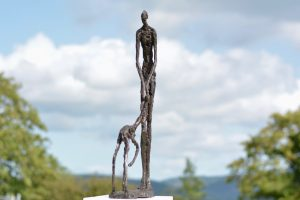 Woman and Fawn Outdoor Sculpture