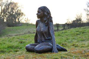 Sitting Girl Statue