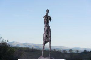 Woman and Bird Garden Statue