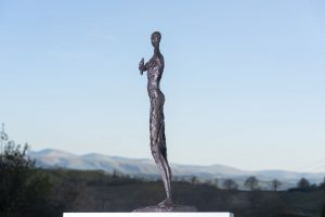 Woman and Bird Garden Sculpture