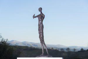 Woman and Bird Outdoor Garden Statue
