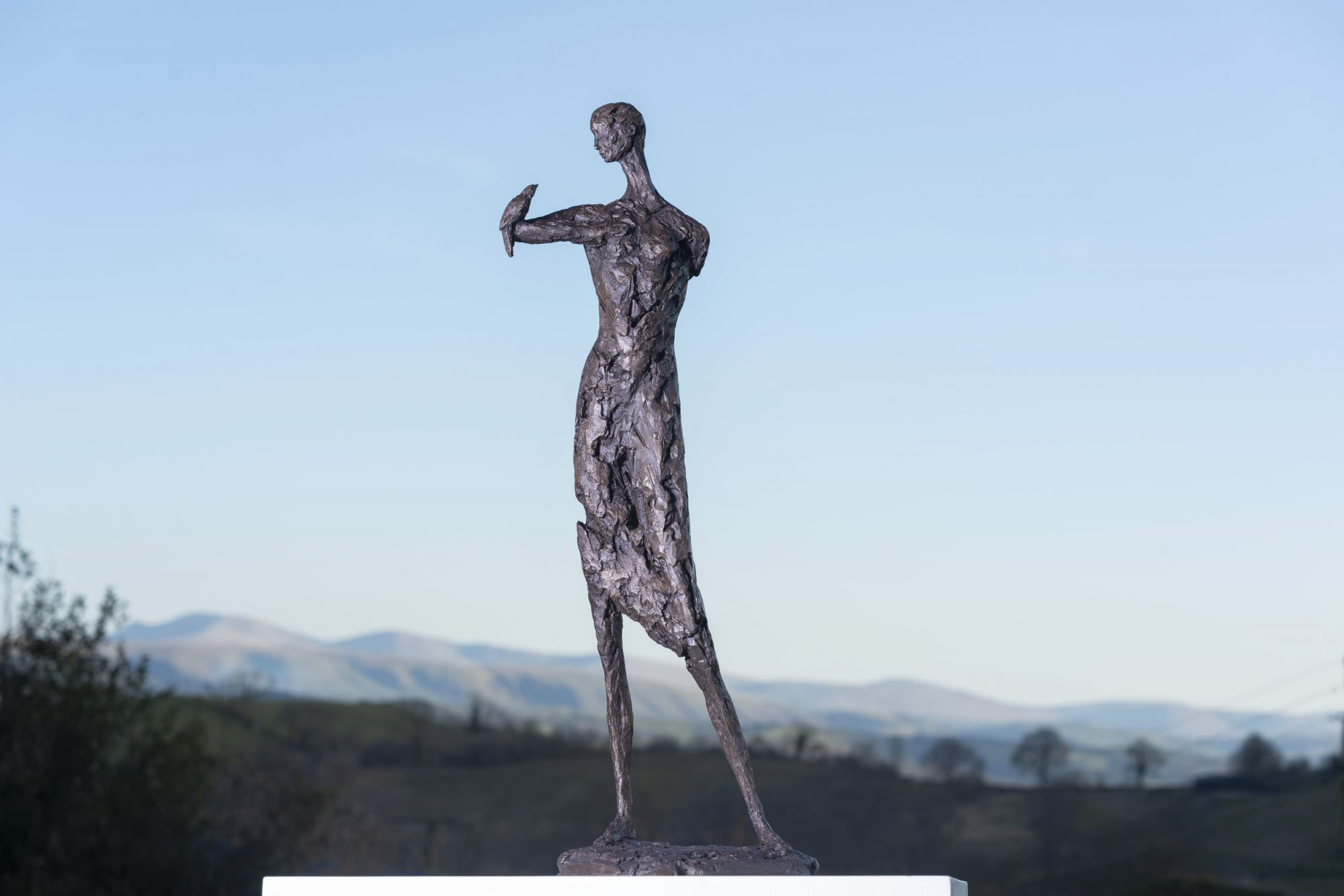 'COMMUNION' WOMAN AND BIRD SCULPTURE