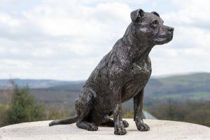 American staffordshire bull terrier sculpture