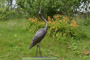 Standing Heron Statue