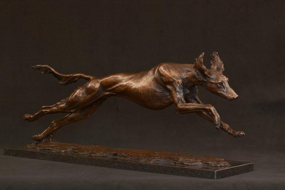 saluki dog sculpture