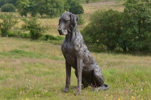 large great dane sculpture