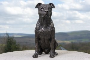 American staffordshire bull terrier statue