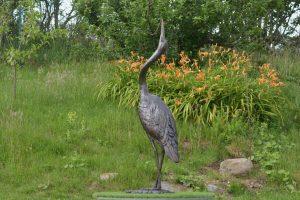 Standing Heron Sculpture