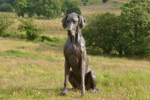 large great dane statue