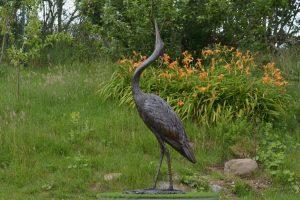 Standing Heron Outdoor Statue